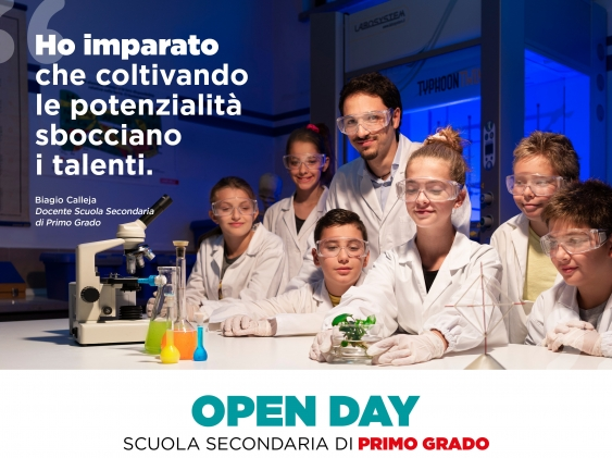 Open Day: sabato 14 dicembre (ore 15:00)